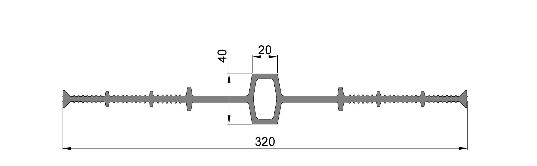 ЦД320-20,ПВХ, ширина 320мм, шов 20мм