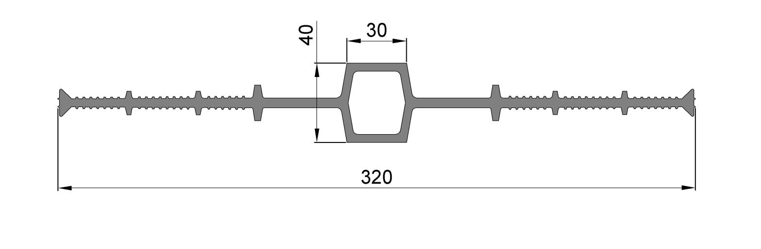 Гидрошпонка ЦД-320-30.1, ПВХ, шов 30.1 мм