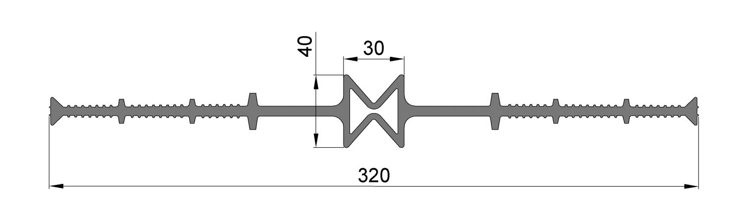 ЦД320-30, ПВХ, ширина 320мм, шов 30мм