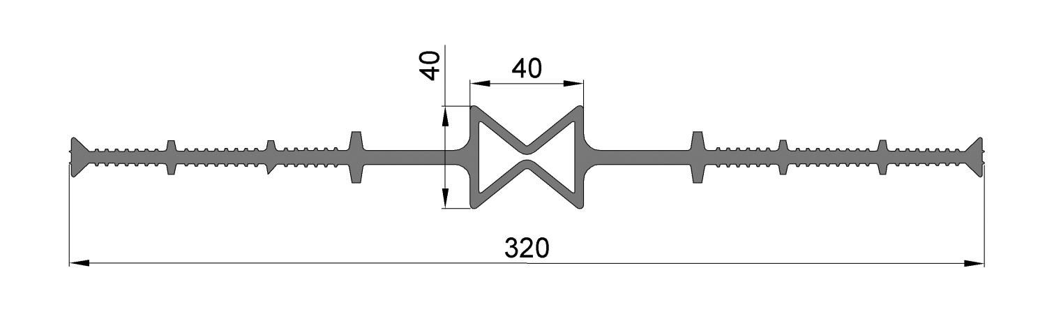 ЦД320-40, ПВХ, ширина 320мм, шов 40мм