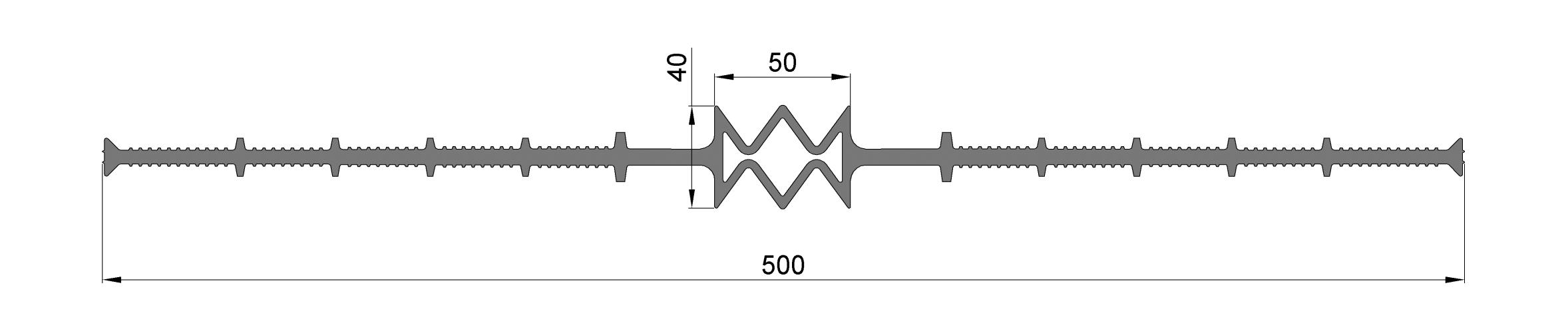 Гидрошпонка ЦД-500-50, ПВХ, шов 50 мм