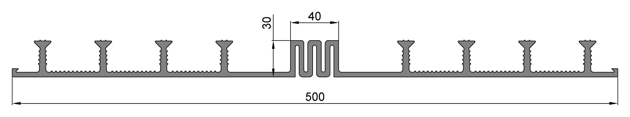 Гидрошпонка ОД-500-40, ПВХ-П, ширина 500 мм, шов 40 мм