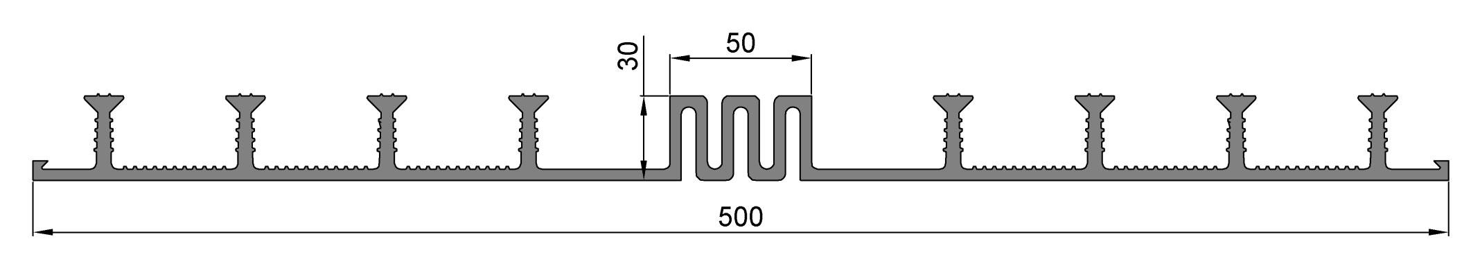 Гидрошпонка ОД-500-50, ПВХ-П, ширина 500 мм, шов 50 мм